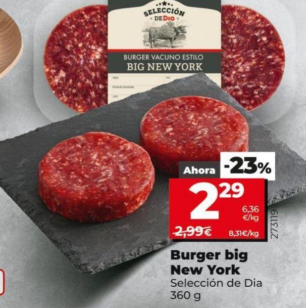 Oferta de Hamburguesas por 2,29€