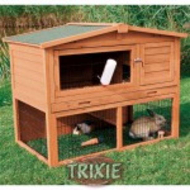 Oferta de TRIXIE  Caseta conejos Natura doble 123x96x76 cm por 240,03€
