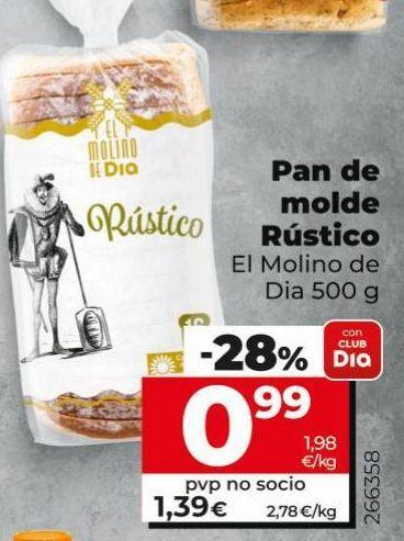 Oferta de Pan de molde rustico El Molino de Dia  por 0,99€