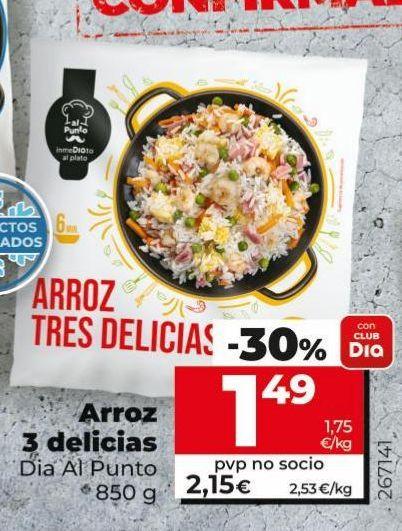 Oferta de Arroz tres delicias Dia por 1,49€