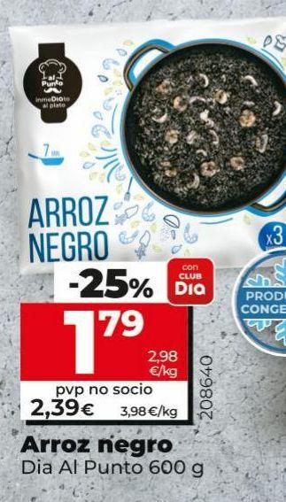 Oferta de Arroz negro Dia por 1,79€