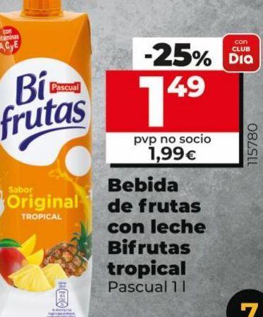 Oferta de Bebida de frutas con leche Bifrutas tropical  por 1,49€