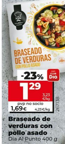 Oferta de Braseado de verduras con pollo asado Dia por 1,29€