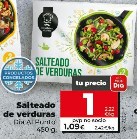 Oferta de Salteado de verduras Dia por 1€