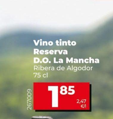 Oferta de Vino tinto reserva Ribera de Algodor  por 1,85€