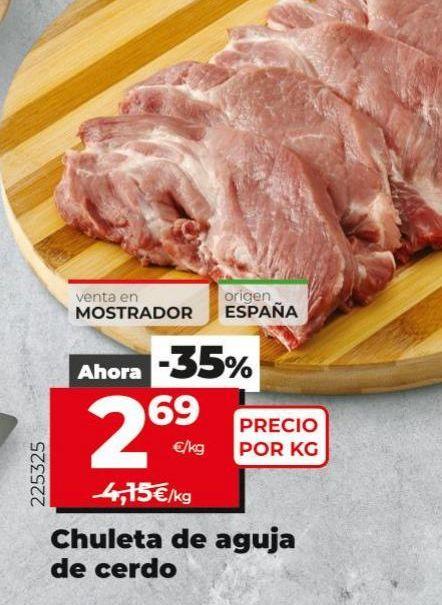 Oferta de Chuletas de aguja de cerdo por 2,69€