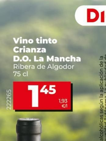 Oferta de Vino tinto crianza Ribera de Algodor   por 1,45€