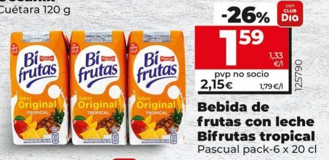 Oferta de Bebida de frutas Pascual por 1,59€