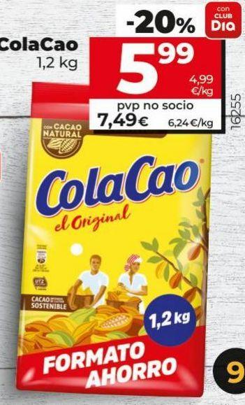 Oferta de Cacao soluble Cola Cao por 5,99€