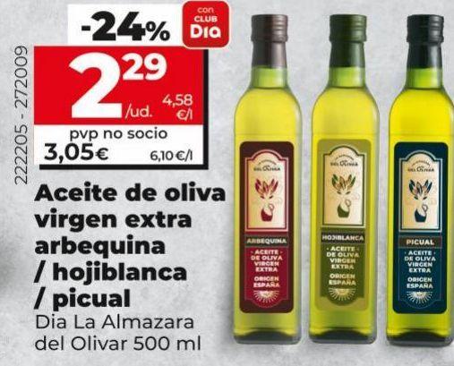 Oferta de Aceite de oliva virgen extra/hojiblanca/ picul Dia por 2,29€