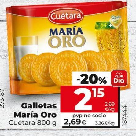 Oferta de Galletas María Cuétara por 2,15€