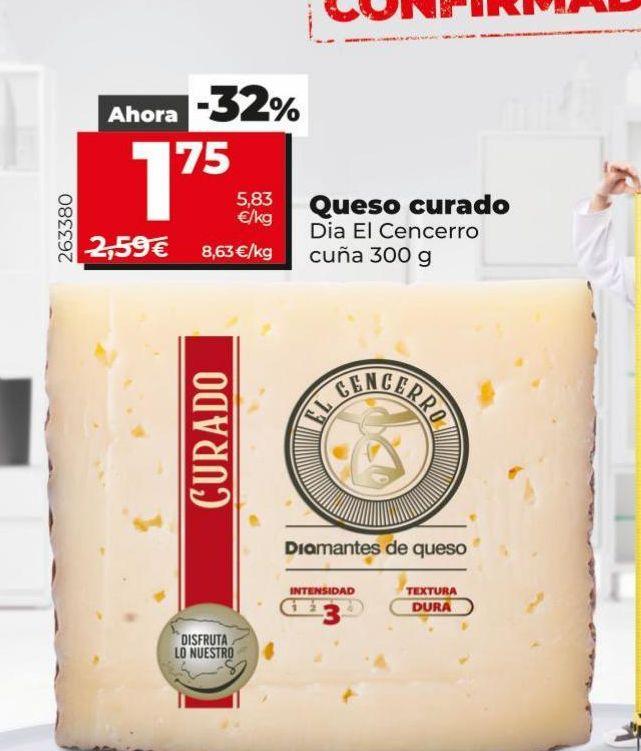 Oferta de Queso curado Dia por 1,75€