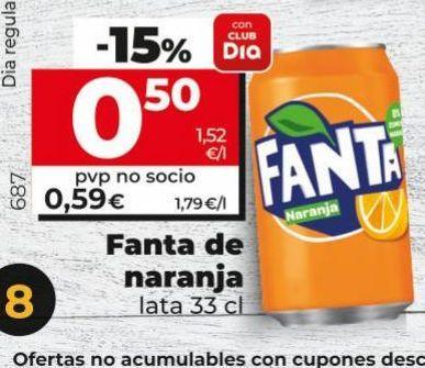 Oferta de Refresco de naranja fanta por 0,5€