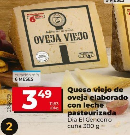 Oferta de Queso viejo de oveja elaborado con lehe pasteurizada  Dia por 3,49€