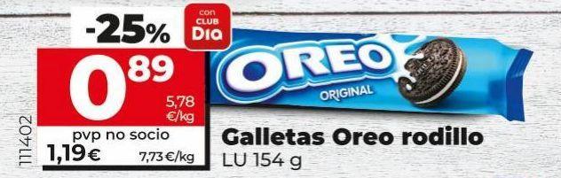 Oferta de Galletas Oreo rodillo  por 0,89€