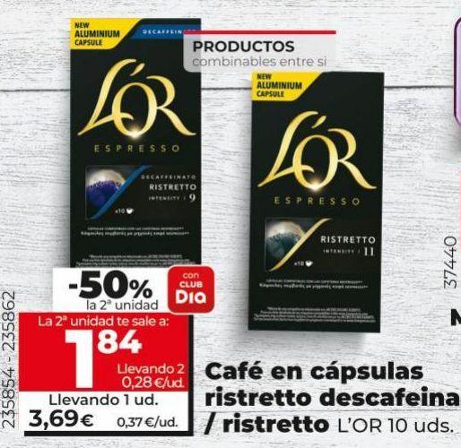 Oferta de Cápsulas de café l'or por 3,69€