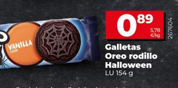 Oferta de Galletas Oreo rodillo Hallowen  por 0,89€