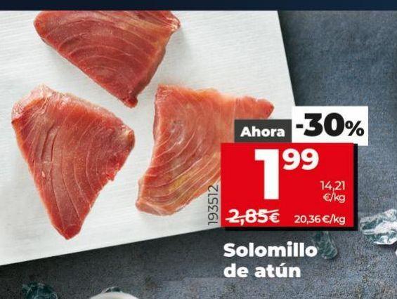 Oferta de Solomillo de atún por 1,99€