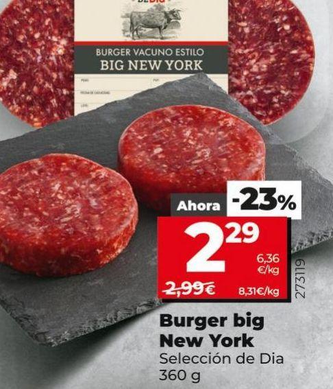 Oferta de Burguer big New York  por 2,29€