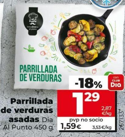 Oferta de Parrillada de verdura asada DIA por 1,29€
