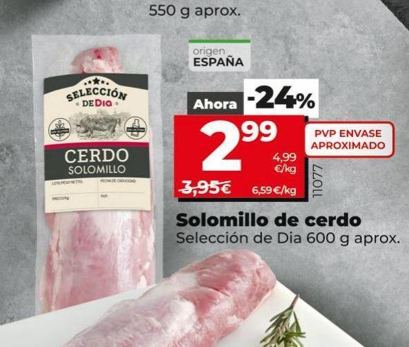 Oferta de Solomillo de cerdo por 2,99€