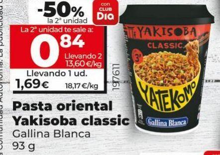 Oferta de Pasta oriental Yakisoba classic Gallina Blanca por 1,69€
