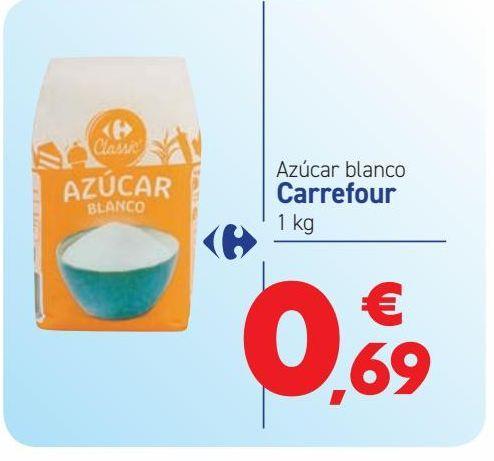 Oferta de Azúcar blanco Carrefour por 0,69€