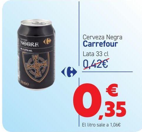 Oferta de Cerveza Negra Carrefour  por 0,35€