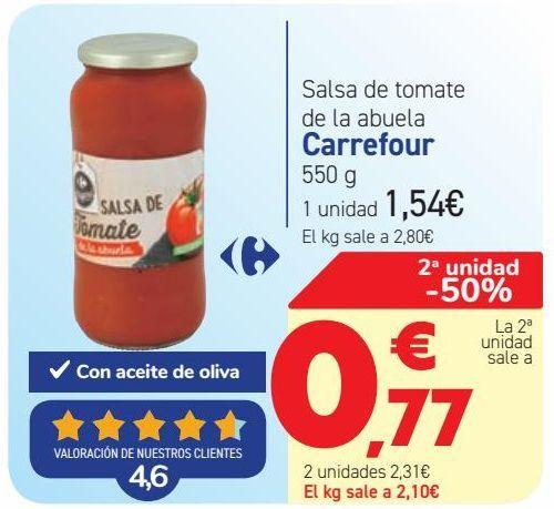Oferta de Salsa de tomate de la abuela Carrefour  por 1,54€