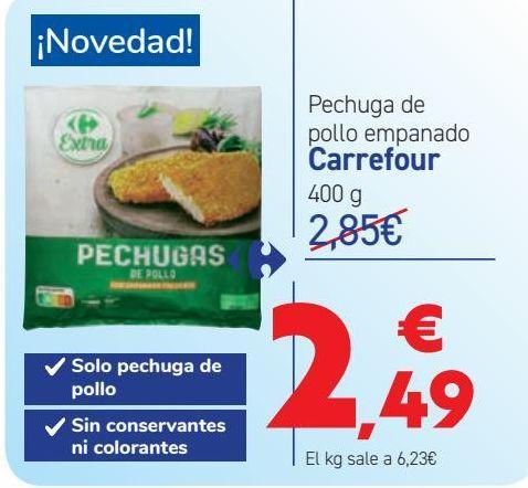 Oferta de Pechuga de pollo empanado por 2,49€