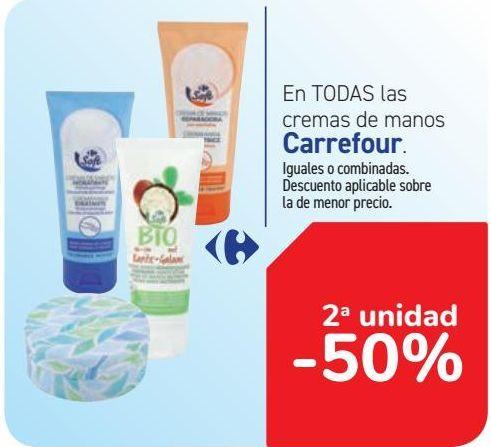 Oferta de En TODAS las cremas de manos Carrefour  por