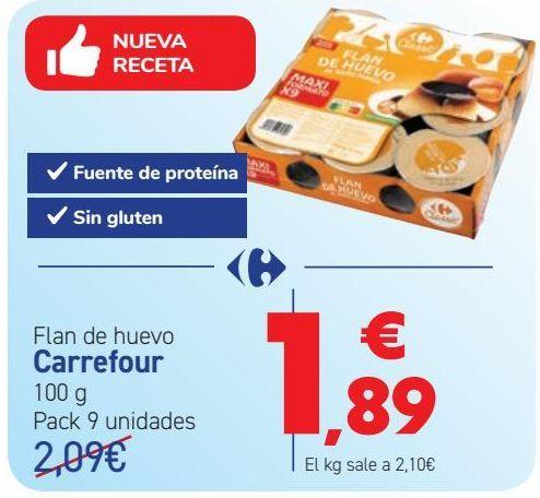 Oferta de Flan de huevo Carrefour por 1,89€