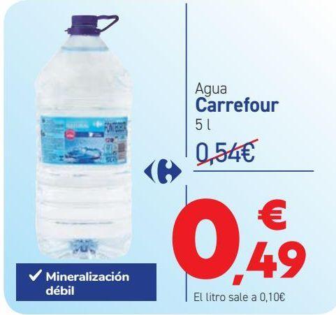 Oferta de Agua Carrefour  por 0,49€