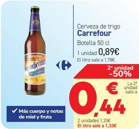 Oferta de Cerveza de trigo Carrefour  por 0,89€