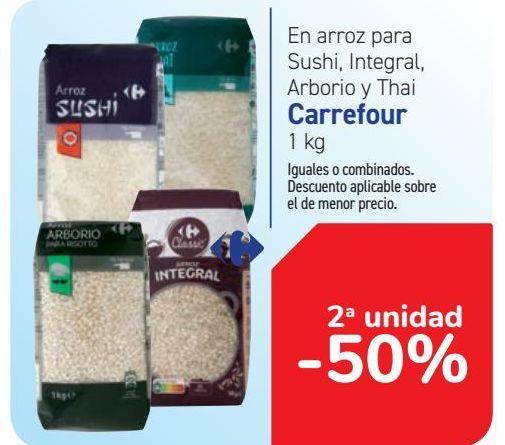 Oferta de En arroz para Sushi, Integral, Arborio y Thai Carrefour por