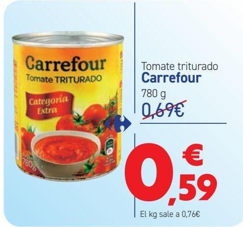 Oferta de Tomate triturado Carrefour por 0,59€