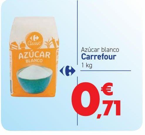 Oferta de Azúcar blanco Carrefour por 0,71€