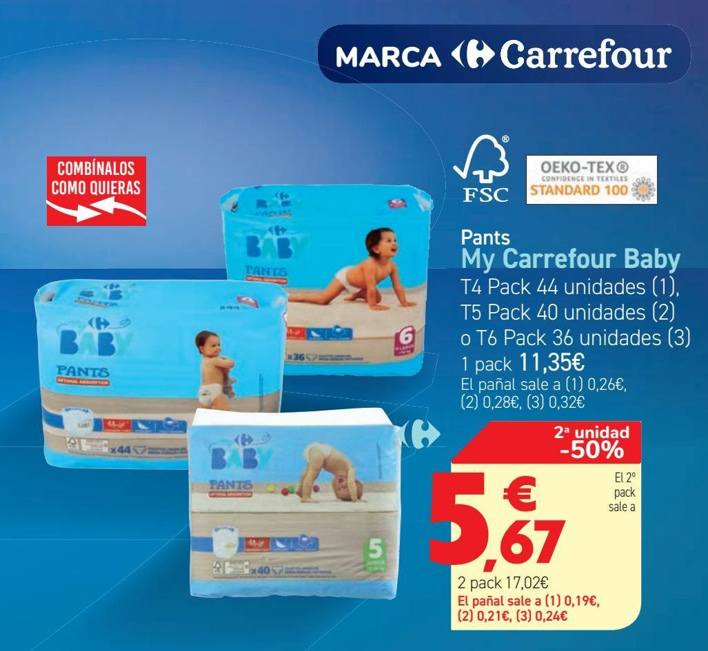 Oferta de Pants My Carrefour Baby  por 11,35€