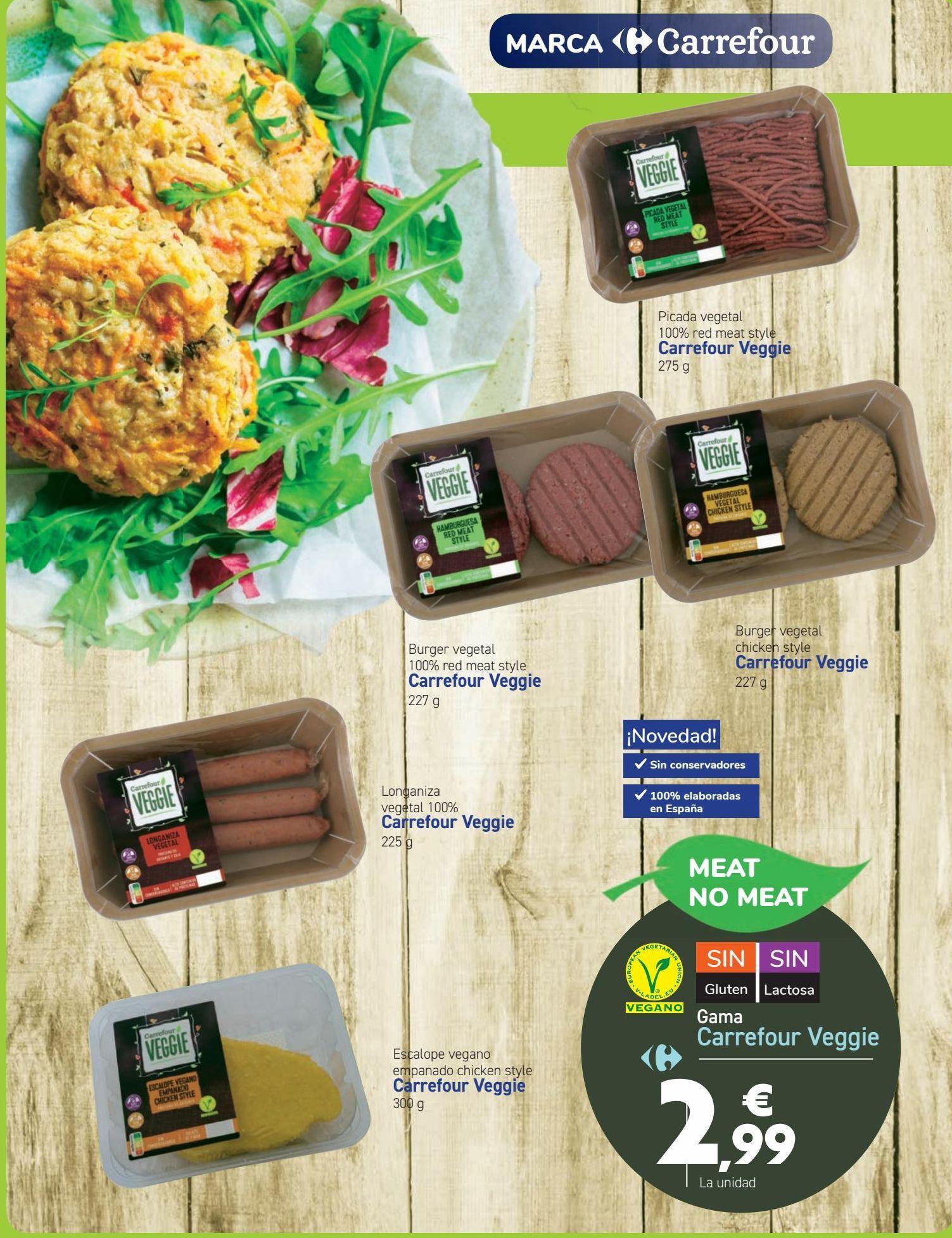 Oferta de Gama Carrefour Veggie  por 2,99€
