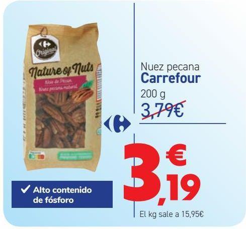 Oferta de Nuez pecana Carrefour por 3,19€