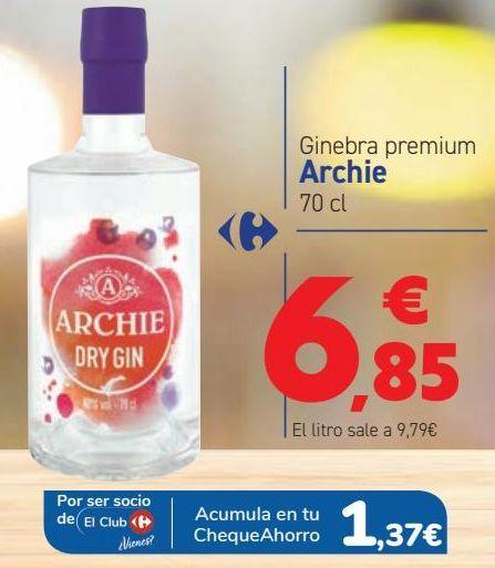 Oferta de Ginebra premium Archie  por 6,85€