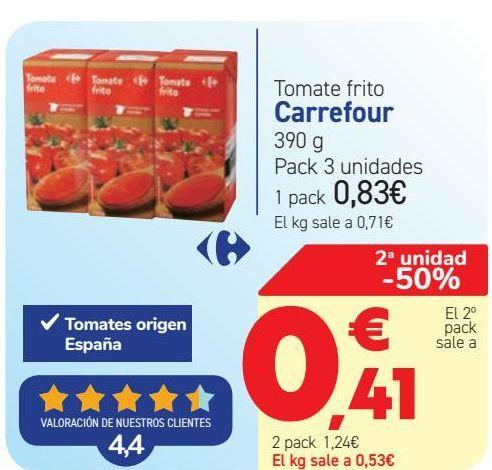 Oferta de Tomate frito Carrefour  por 0,83€