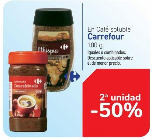 Oferta de En Café soluble Carrefour por