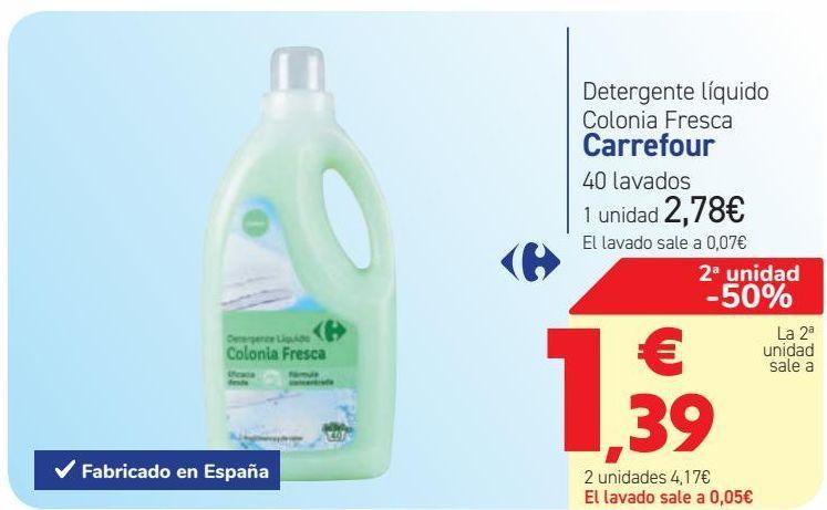 Oferta de Detergente líquido Colonia Fresca Carrefour  por 2,78€