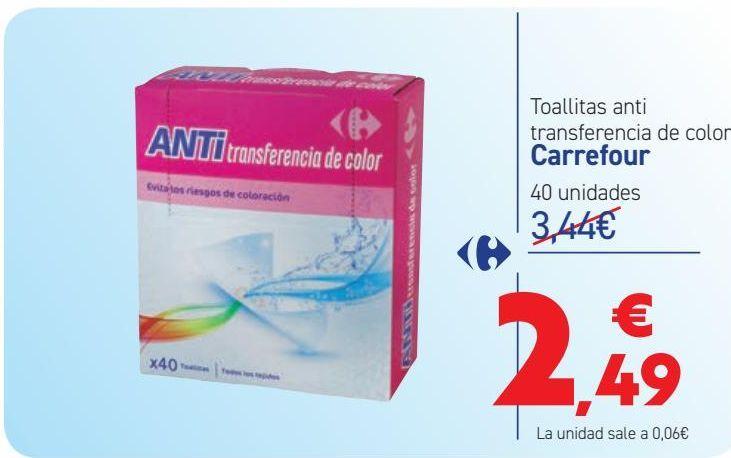 Oferta de Toallitas anti transferencia de color Carrefour  por 2,49€