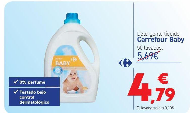 Oferta de Detergente líquido Carrefour Baby  por 4,79€