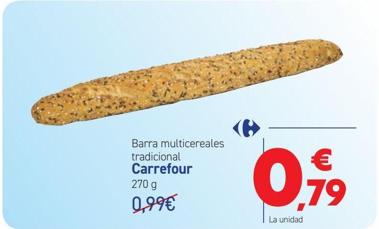 Oferta de Barra multicereales tradicional Carrefour  por 0,79€