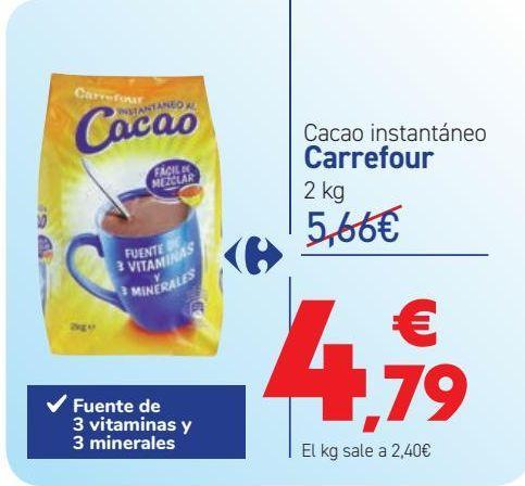 Oferta de Cacao instantáneo Carrefour por 4,79€