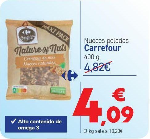 Oferta de Nueces peladas Carrefour por 4,09€