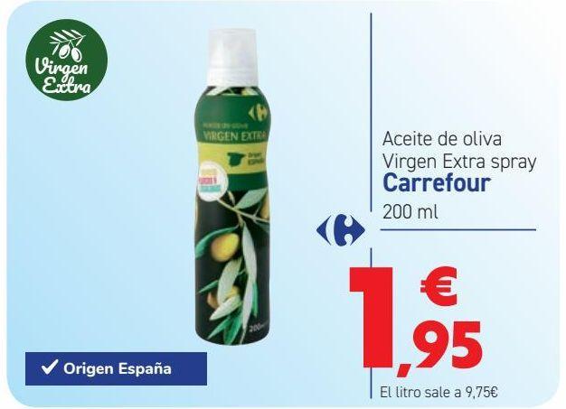 Oferta de Aceite de oliva Virgen Extra Spray por 1,95€